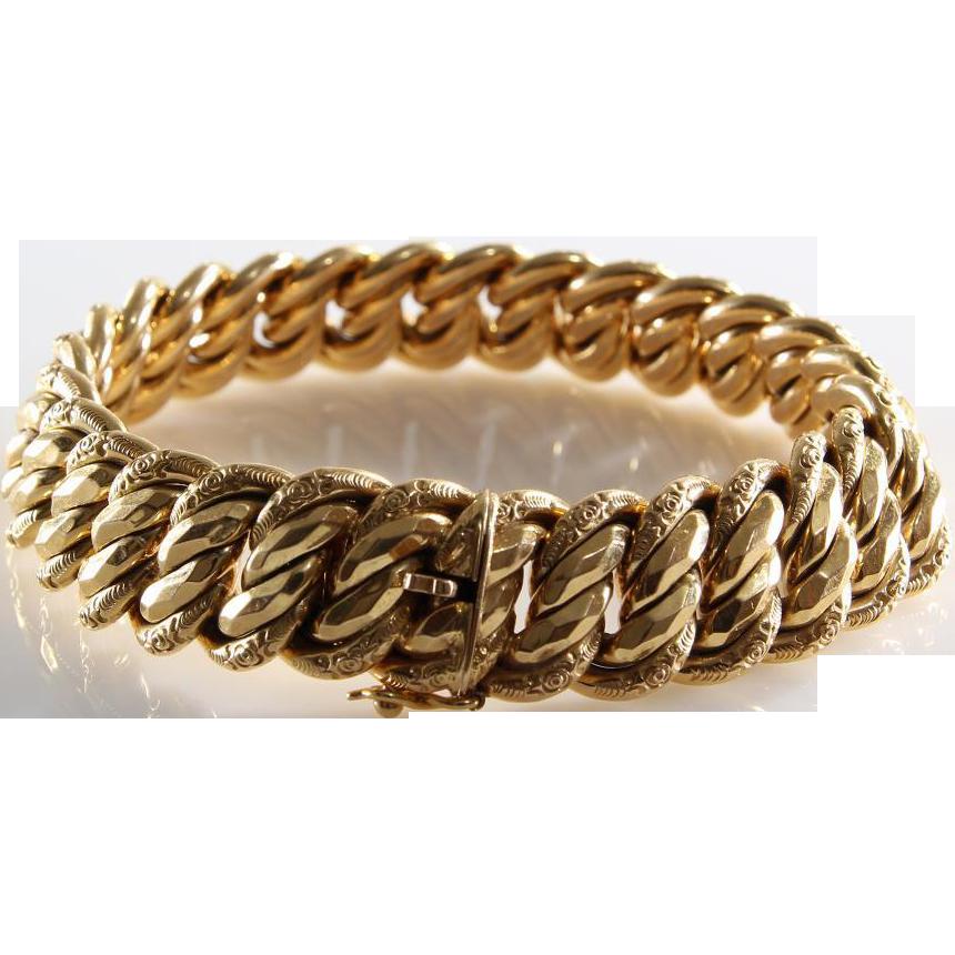 Vintage 18k Gold Link Bracelet Gold Link Bracelet | 18k