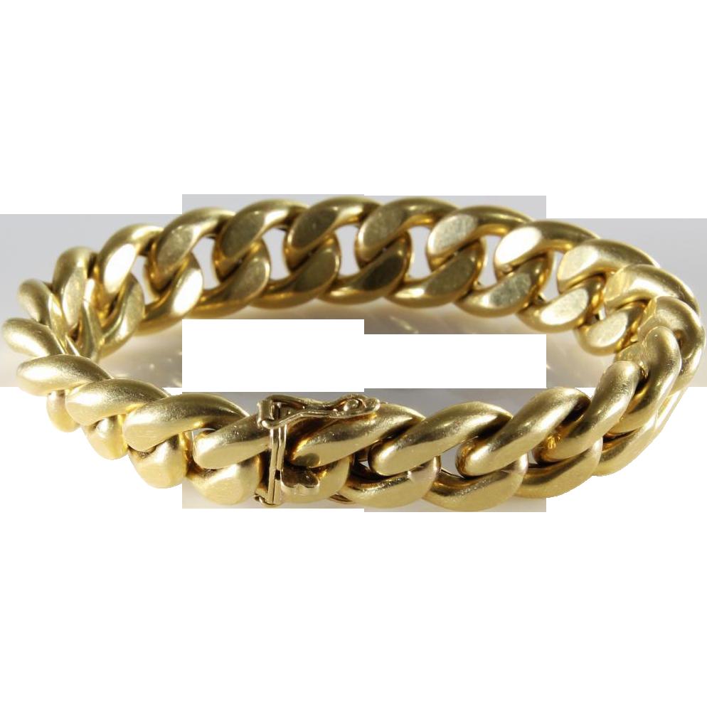 Vintage 18k Gold Link Bracelet Link Bracelet | 18k Yellow