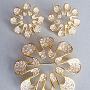 SALE BUTLER Fifth Avenue Felicity Pav Brooch Demi Parure