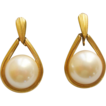 CROWN TRIFARI Faux Mabe Pearl Dangle Earrings