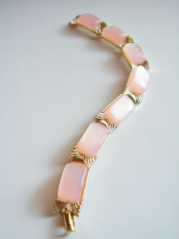 Candy Floss Pink Moonglow Thermoset Bracelet