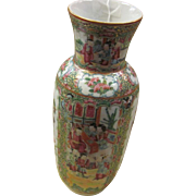 Rose Mandarin Vase 19th Century Porcelain