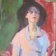 "Neil Boyle, BSWCA Portrait of a Lady ""Aisa"" Acrylic on Canvas"