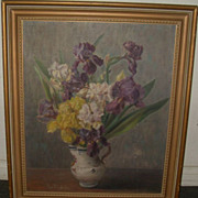 ANN SONIA MEDALIE (Russian/American, 1896-1991) Oil on Board Framed