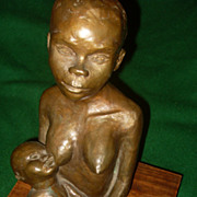 Natalie Krol Bronze Sculpture Mother and Child