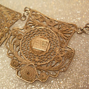 Antique Silver Filigree Mexican Necklace