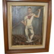 "Belle Winer (1904-1998) ""Tightrope Walker"" Oil on Board Signed"