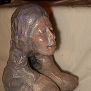 Woman in Labor Abstract Sculpture D. Matalon