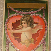 Cupid with Arrow Arts and Crafts Era Valentine Postcard