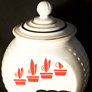 1940s Fire King Anchor Hocking Vitrock Milk Glass Grease Drippings Jar