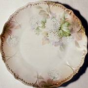 "RS Prussia Red Mark 7 1/2 "" Floral Salad - Dessert Plate"