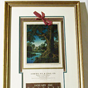 Professional Preservation - Custom Framed 1941 Maxfield Parrish Advertising Calendar Print