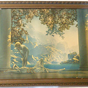 SALE Classic Art Deco Framed Print - Daybreak by Maxfield Parrish
