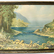 SOLD 1927 RA Fox Art Deco Framed Print - Inspiration Inlet