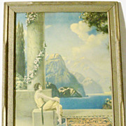 "SALE 1920's Art Deco Framed Robert Atkinson Fox Print - Daydreams #2 - 18 1/2"" x 14 1/2"""