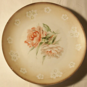 RS Prussia Red Mark Floral Plate