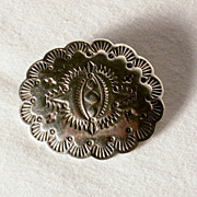 Small Heavily Stamped Vintage Southwestern Sterling Silver Pin