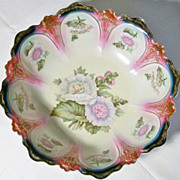 Large Zeh Scherzer Z S & Co Porcelain Serving Bowl -1880-1918
