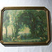 SOLD Classic 1920s Framed Print - Dance of the Wood Nymphs