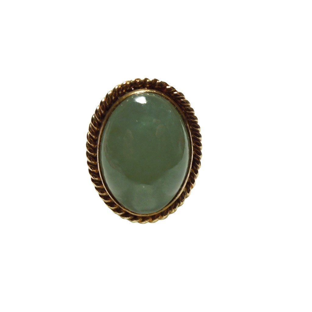 Vintage 14k Gold & Jade Ring