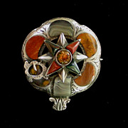 SOLD A Scottish Agate Order Of The Garter Brooch Circa 1880