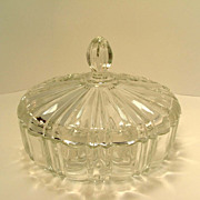 SALE Vintage Fire King Anchor Hocking Glass Candy Dish with Lid