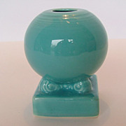 SALE Vintage Fiesta Bulb Candle Holder - Turquoise
