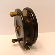 SALE Vintage Heaton�s Triplelife Mahogany Starback English Salmon Fishing Reel c. 1870�s