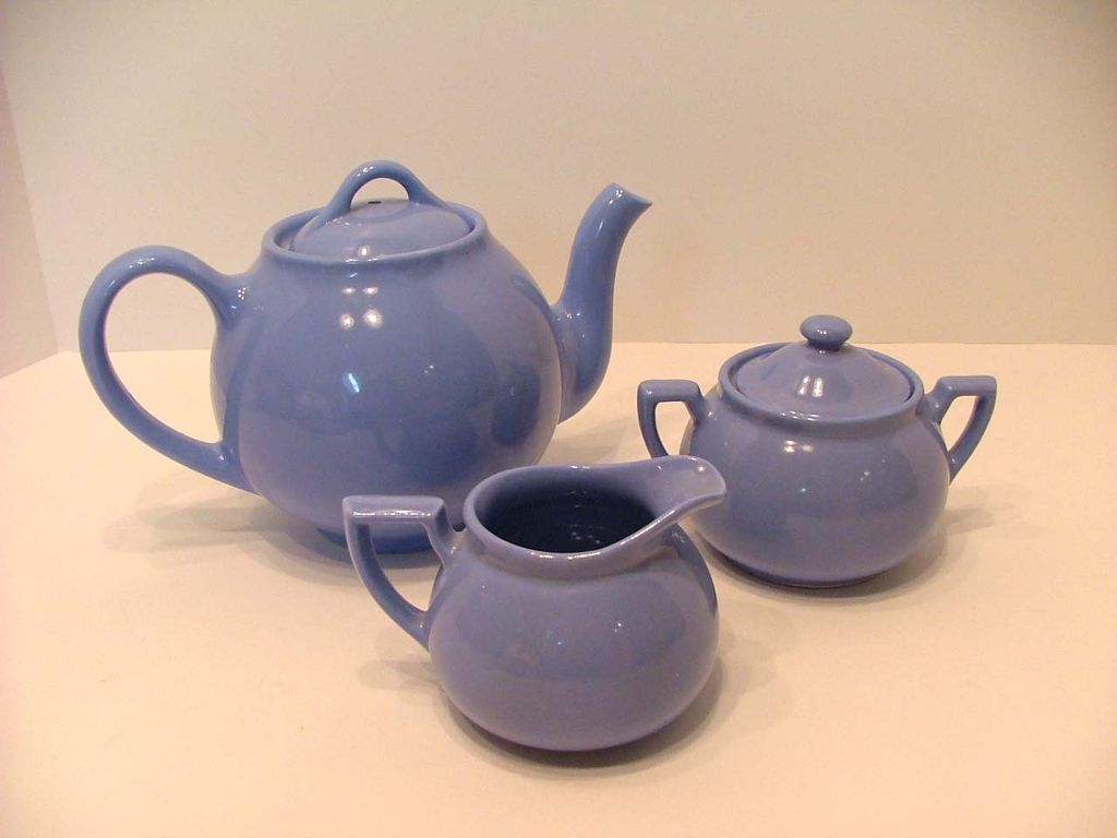 Lipton's Tea, Tea Pot, Cream & Sugar Set – Periwinkle Blue