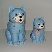 SALE Otagiri Japan Blue Kitty Cat Creamer and Sugar Set