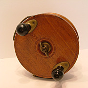 SALE Vintage Peetz Wooden Sea Fishing Reel