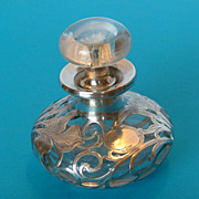 Scent Bottle -Sterling Silver Overlay