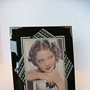 Sylvia Sidney Picture in Reverse Glass Vintage Picture  Frame