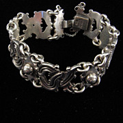 Vintage Mexican 980 Silver Bracelet