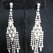 Elegant Long Hobe Rhinestone Earrings
