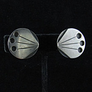 Esther Lewittes Modernist Studio Silver Earrings