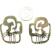 Large Frank Miraglia Silver Earrings