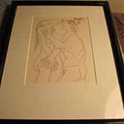SOLD 1964 Picasso Lithograph-#7 in his Erotic Series