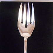 Gorham Sterling Silver Clermont Meat Fork Circa 1915 With Mono