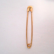 SOLD Cartier Vintage 14K Gold Safety Pin/Diaper Pin Authentic & Signed 3 Grams