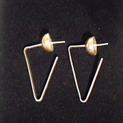 Dulce Plateros Taxco Mexico Sterling Silver 1980's Pierced Earrings TD-34