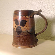 Michael Sherrill Pottery Ale Mug Signed Dated