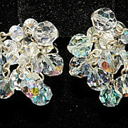 REDUCED MEGA Aurora Borealis CRYSTAL Dangle Earrings EXPLOSIVE Colors