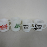Vintage Anchor Hocking Advertising Mugs Coffee Cups