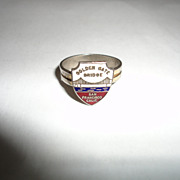 Vintage San Francisco Golden Gate Bridge Ring