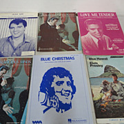 Elvis Presley Lot 6 Vintage Sheet Music Blue Hawaii Ask Me Love Me Tender Suspicious Mind Blue