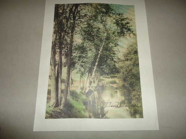 David Davidson  Hand Colored Photograph Still Water
