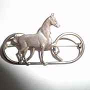 SOLD Vintage Sterling Horse Pin Brooche