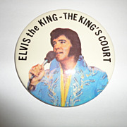 Vintage Elvis Presley The King's Court Button