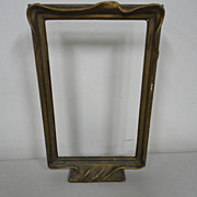 Vintage Arts & Crafts Pie Crust Picture Frame on Stand